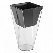 Горшок пластиковый Flower pot Urbi Twist P –TRANSPARENT